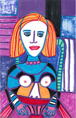 Woman With Red Orange Hair Poster