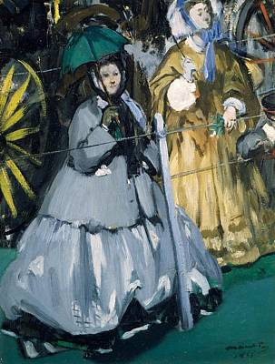 Women At The Races, 1865 Oil On Canvas Poster by Edouard Manet