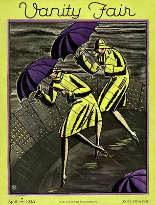 Women In The Rain Poster by Marion Wildman