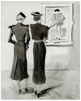 Women Looking At A Toreador Poster