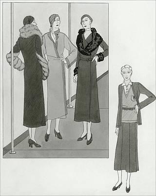 Women Modeling Designer Clothing Poster