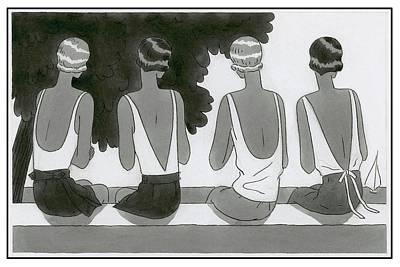 Women Wearing Bathing Suits Poster