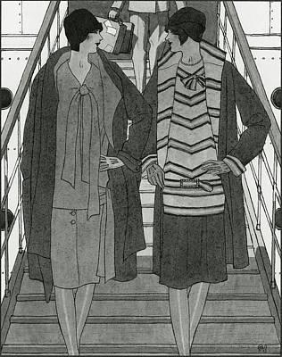 Women Wearing Chanel Poster by Pierre Mourgue