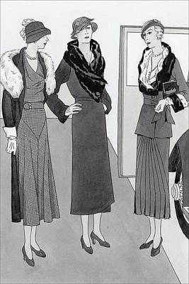 Women Wearing Clothing By Bendel's Poster by Polly Tigue Francis