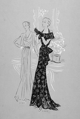 Women Wearing Dresses Poster