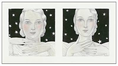 Women With Stars Poster by Georges Lepape