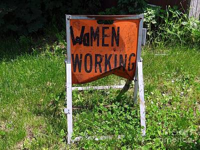 Poster featuring the photograph Women Working by Ed Weidman