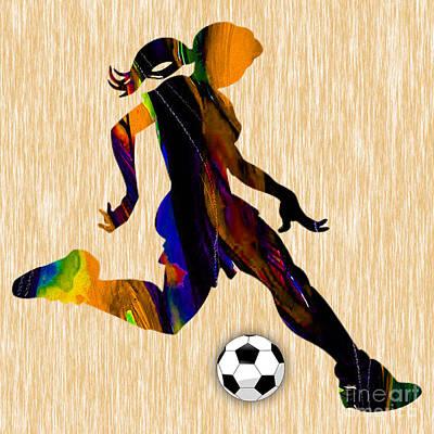 Women's Soccer Poster by Marvin Blaine