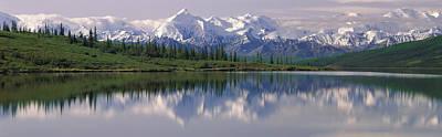 Wonder Lake Denali National Park Ak Usa Poster by Panoramic Images