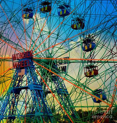 Wonder Wheel Poster by Lilliana Mendez