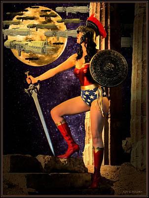 Wonder Warrior Vs Alien Armada  Poster