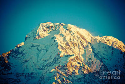 Wonderful Views Of Holy Annapurna South 7237m Poster