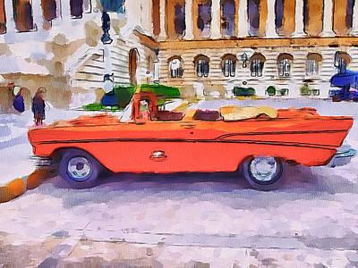 Wonna Ride This Car Poster by Yury Malkov