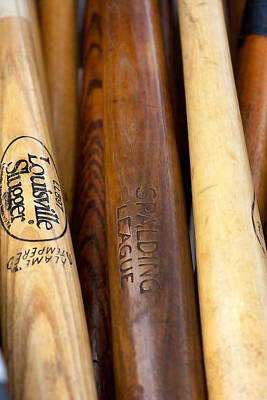 Wood Baseball Bats Poster by Art Block Collections