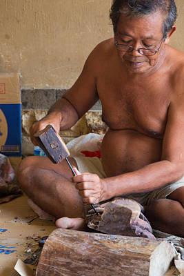 Wood Carver - Bali Poster
