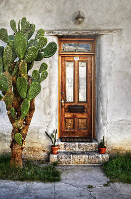 Poster featuring the photograph Wood Door In Tuscon by Ken Smith
