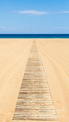 Wood Slat Wheelchair Beach Access Ramp Poster