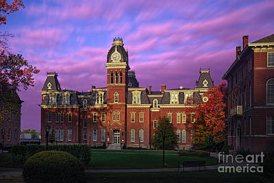 Woodburn Hall In Morning Pink Sky Poster by Dan Friend