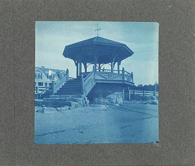 Wooden Bandstand With Stairs And Wind Vane Poster by Artokoloro