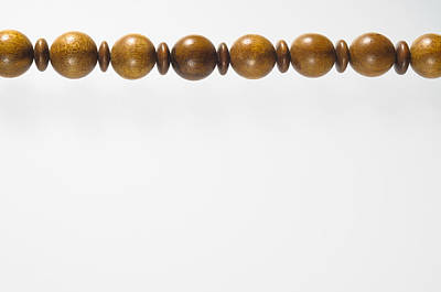 Wooden Beads Necklace Poster by Alain De Maximy