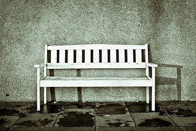 Wooden Bench Poster by Tom Gowanlock