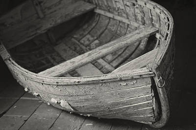 Wooden Boat Fading Away Poster by Mary Lee Dereske