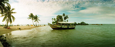 Wooden Boat Moored On The Beach, Morro Poster by Panoramic Images
