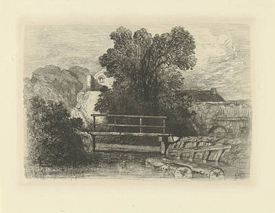 Wooden Bridge, Charles Rochussen Poster by Artokoloro