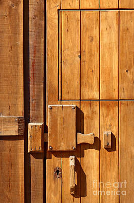 Wooden Door Detail Poster by Carlos Caetano
