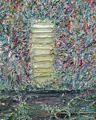 Wooden Door In The Garden Poster by Fabrizio Cassetta