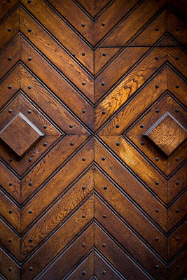 Wooden Doors Poster by Pati Photography