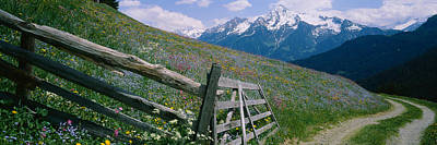 Wooden Fence In A Field, Tirol, Austria Poster
