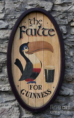 Wooden Guinness Sign Poster by Christiane Schulze Art And Photography
