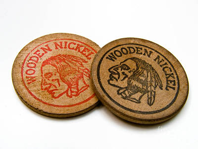 Wooden Nickels Poster by Amy Cicconi
