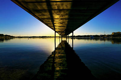 Wooden Pier At Sunset Poster by Wladimir Bulgar