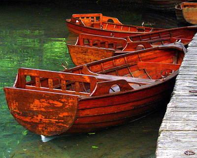 Wooden Rowboats Poster by Ramona Johnston