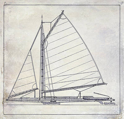 Wooden Sailboat  Poster