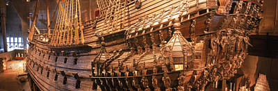 Wooden Ship Vasa In A Museum, Vasa Poster by Panoramic Images