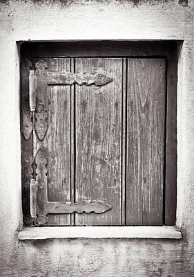 Wooden Shutter Poster by Tom Gowanlock