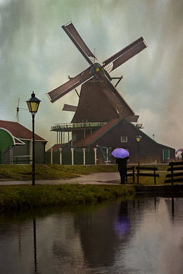 Wooden Windmill In Holland Poster by Juli Scalzi