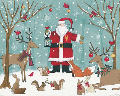 Woodland Christmas Vi Poster by Anne Tavoletti