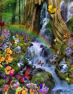 Woodland Forest Fairyland Poster