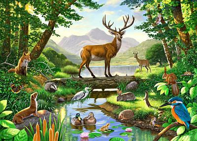 Woodland Harmony Poster