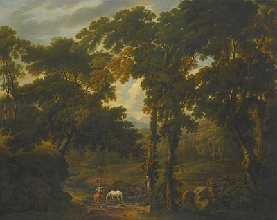 Woodland Scene With A Horseman Poster by Celestial Images