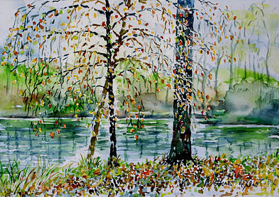 Poster featuring the painting Woodmans Pond by Alfred Motzer