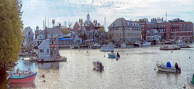 Poster featuring the photograph Woods Hole Harbor by Constantine Gregory