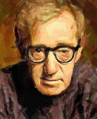 Woody Allen Poster by Yury Malkov