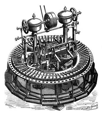 Wool Combing Machine Poster