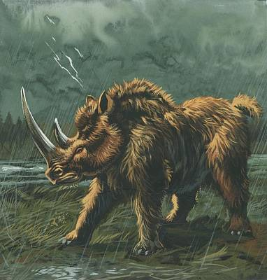 Woolly Rhinoceros Poster by Deagostini/uig