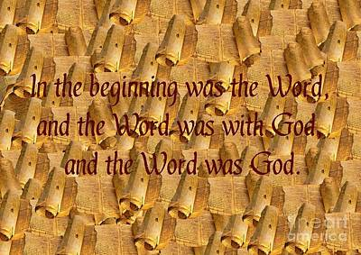 Word Of God Poster by John Malone